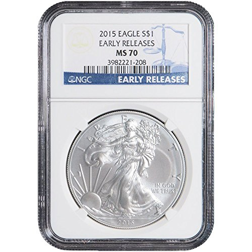 2015 $1 American Silver Eagle NGC MS70 Early Releases (Blue Label) MS70 NGC