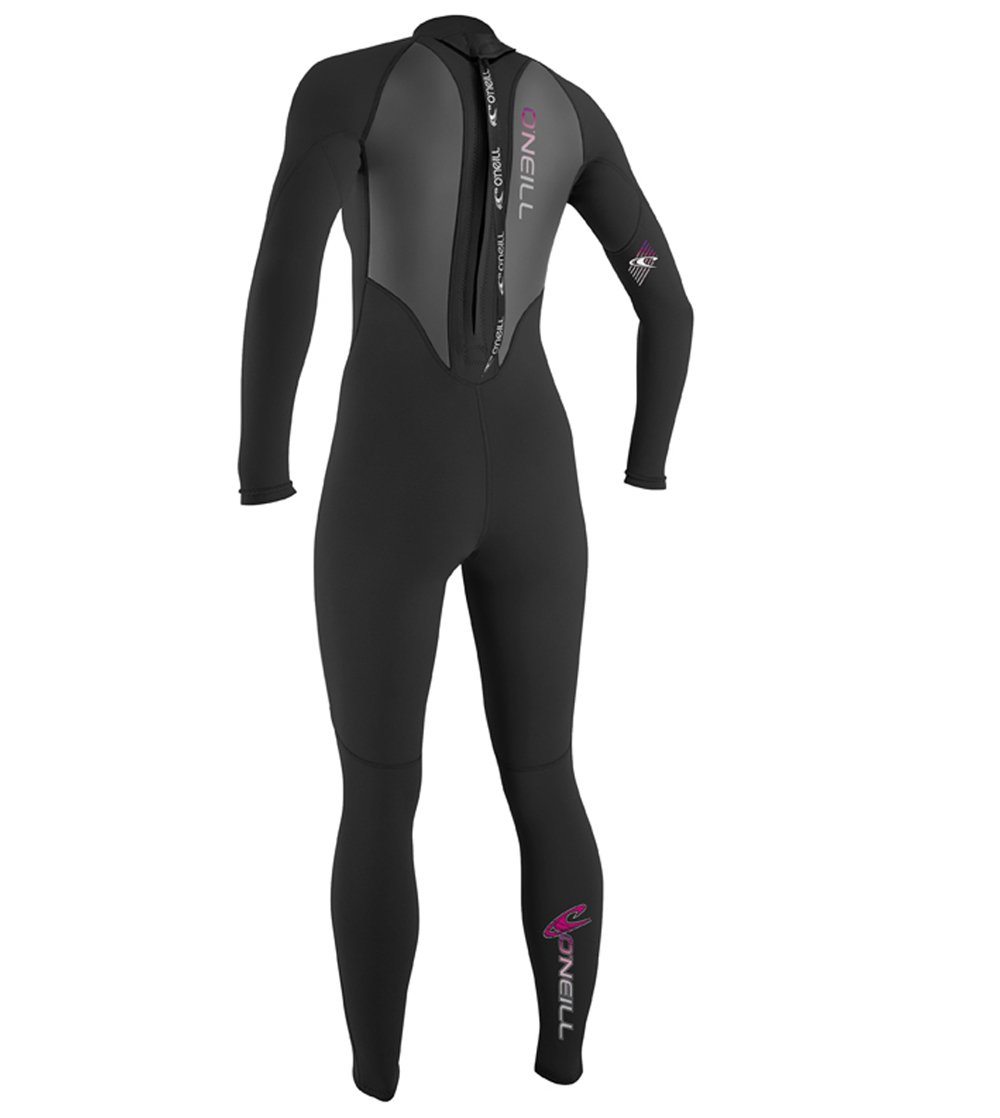 O'Neill   Womens 3/2 mm Reactor Full Suit, Black, 8 by O'Neill Wetsuits (Image #2)