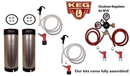 Two Tap Basic Homebrew Kit, Pin Lock, Chudnow WYE'd Regulator by (5 Gallon Soda Keg)