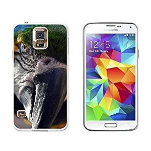 New Style Blue and Yellow Macaw Parrot Ara Bird - Snap On Hard Protective Case for Samsung Galaxy S5 - White