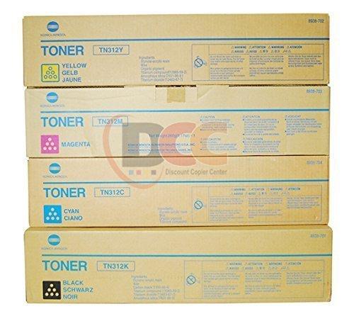 Genuine TN-321 Konica Minolta CMYK Toner Set for Bizhub C224 C284 C364