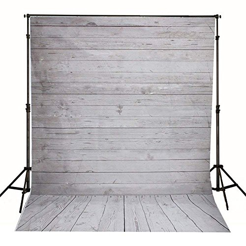 Wooden Wall Backdrops, WCIC 3x5 Feet Retro Wood Bo...