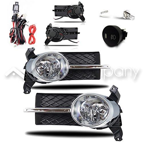 07-11 Aveo 4Dr / 07-08 Pontiac G3 Fog Lights w/Wiring Kit - Chrome Cover