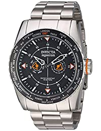 Invicta Men's 'Aviator' Quartz Stainless Steel Casual Watch, Color:Silver-Toned (Model: 22984)
