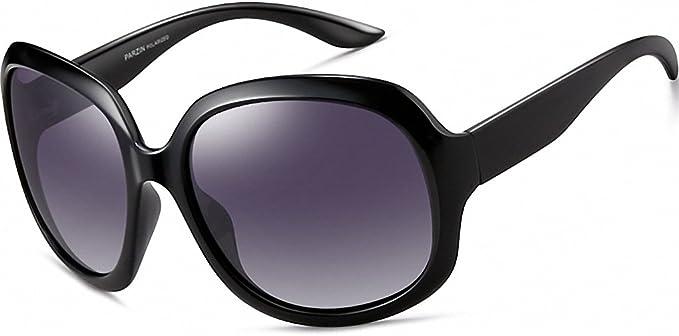 Stylish Womens Oversized Women Sunglasses Uv400 Protection Polarized Black