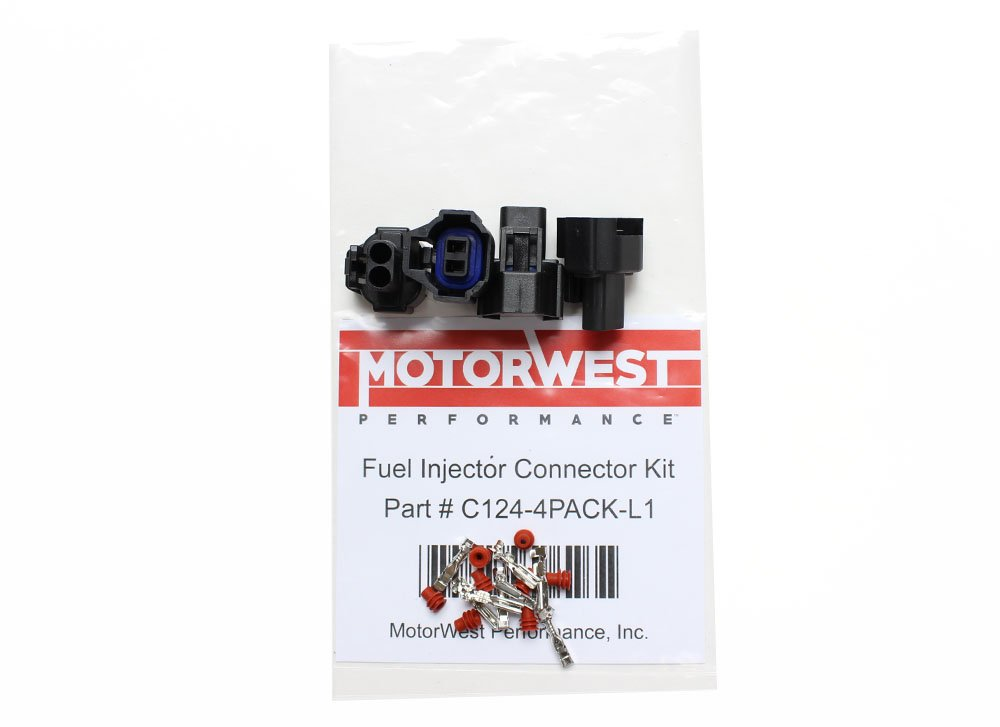 EV6 Female Fuel Injector Connector With Crimp-on Pins MotorWest Performance C123
