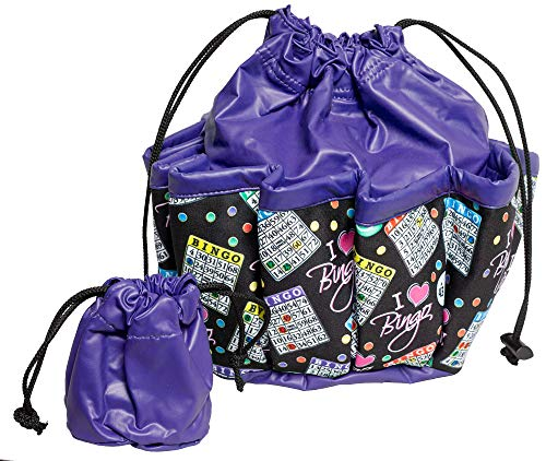ABS Novelties I Love Bingo Pattern 10 Pocket Tote ()