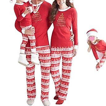 572b36fc06 Juleya Christmas Family Matching Pajamas Set 2 Pcs Set Winter Autumn Sleepwear  Set Long Sleeve Nightwear Casual Homewear  Amazon.co.uk  Clothing