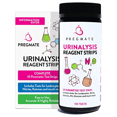 PREGMATE 100 Urinary Tract Infection UTI Test Strips 10 Parameter Leukocytes Nitrite And More (100 Tests)