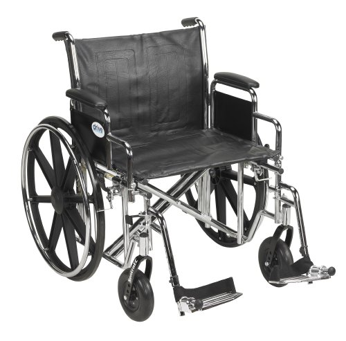 Bariatric Wheelchair Dimensions - Drive Medical Sentra EC Heavy Duty Wheelchair with Various Arm Styles and Front Rigging Options, Black, Bariatric 22