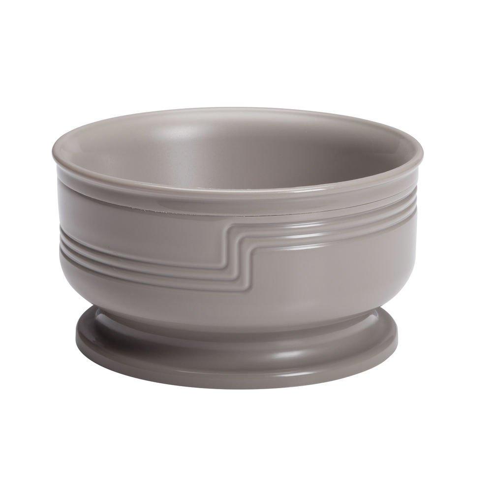 Cambro Shoreline Collection 9 Oz Large Wheat Beige Plastic Insulated Bowl - 4 3/8 Dia x 2 3/8 H