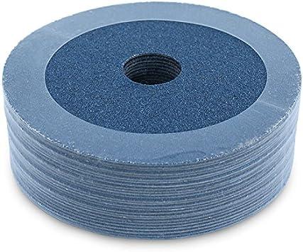 """100 Pack 7/"""" Black Hawk 80 Grit A//O Resin Fiber Disc Grinding /& Sanding Discs"""