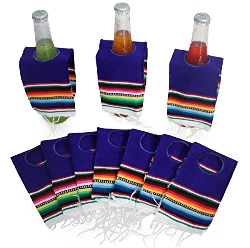 Del Mex 10 PACK Mini Mexican Serape Poncho Beer Bottle Dr...