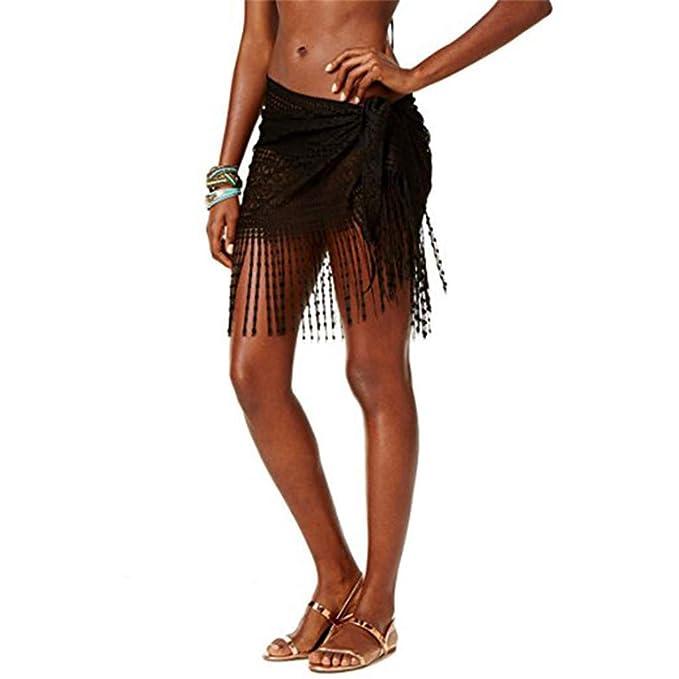 Mujeres Pareo Ropa de Playa Borla Toalla Bikini Cover up ...
