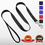 Heavy Duty Reflective Dog Leash with Comfortable Padded by ZUCCHI for Training 5 Feet Long 1 Inch Wide and 2mm Thick Perfect for Medium to Large Pet