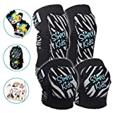 Innovative Soft Kids Knee and Elbow Pads with Bike Gloves | Toddler Protective Gear Set | Comfortable Breathable Safe | Roller-Skate, Skateboard for Boys and Girls