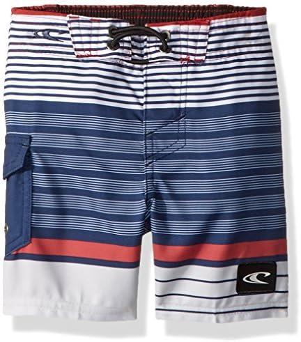 Little Boys' Lennox Boardshort Red/White/Blue 3T [並行輸入品]