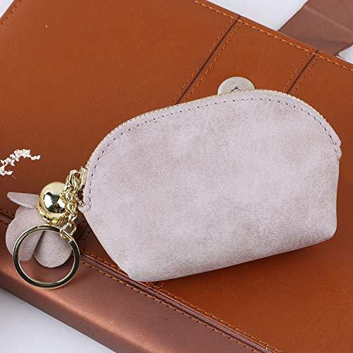 ca911890bb206f Women Leather Small Mini Wallet Card Key Holder Zip Coin Purse Clutch Bag  Beige: Amazon.com.au: Home