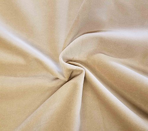 - Quality Cream 100% Cotton Velvet Velour Fabric for Upholstery/Drapery/Crafts/Costumes Heavy 16oz Weight Thick Curtain Material Sold by The Yard at 54 inch Wide