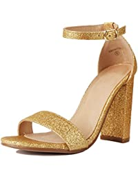 953f277f9d15 Women s Heeled Sandals Ankle Strap Chunky Block Low Heel Strappy Stacked  Fashion Casual Dress Shoes SL01