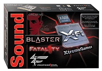 Creative Sound Blaster X-Fi XtremeGamer Fatal1ty Professional Driver for Windows 7
