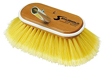 Shurhold 960 6-Inch Deck Brush with Soft Yellow Polystyrene Bristles