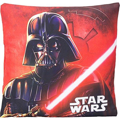 Star Wars Kinder Kissen Kopfkissen 35cm x 35cm für Jungen (Rot)