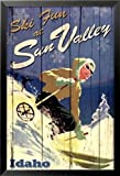 vintage advertisement - FRAMED Ski Sun Valley by Kate Ward Thacker 24x36 Art Print Poster Woman Skiing Fun Idaho Snow Mountain Slope Vintage Advertisement