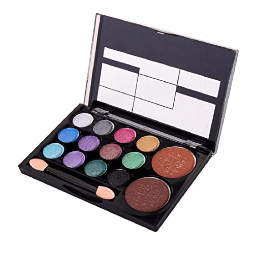 Orangeskycn 14 Colors Makeup Shimmer Palette Cosmetic Nude Warm Eye Shadow (B)