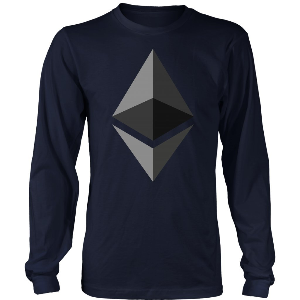Just Hodl Apparel Ethereum Premium Cryptocurrency Shirt - ETH HODL Long Sleeve Shirt