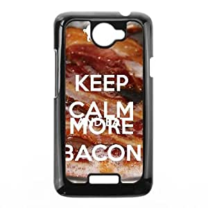 Keep Calm Bacon On HTC One X Cell Phone Case Black MSU7164708