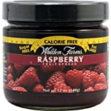 Raspberry Fruit Spread Jar 12 Ounce Free Calories by Walden Farms