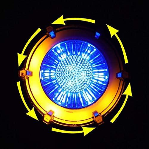 Monland 2Pcs Motocicleta Modificada Se?Al de Giro LED Doble Color Circular Streamer Luces de Se?Al de Giro con Luces de Circulaci/óN Diurna