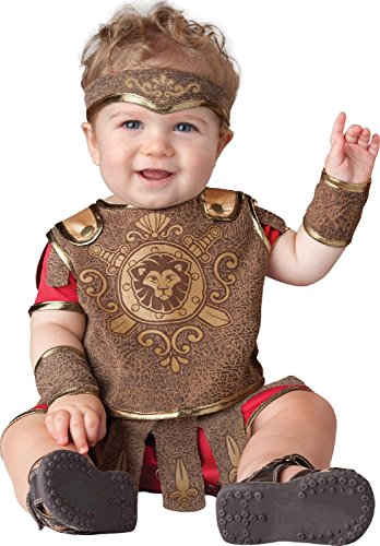InCharacter Baby Boy's Gladiator Costume, Red/Tan, Small -