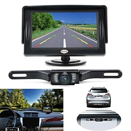 Backup Camera and Monitor Kit for Car, GerTong Universal...