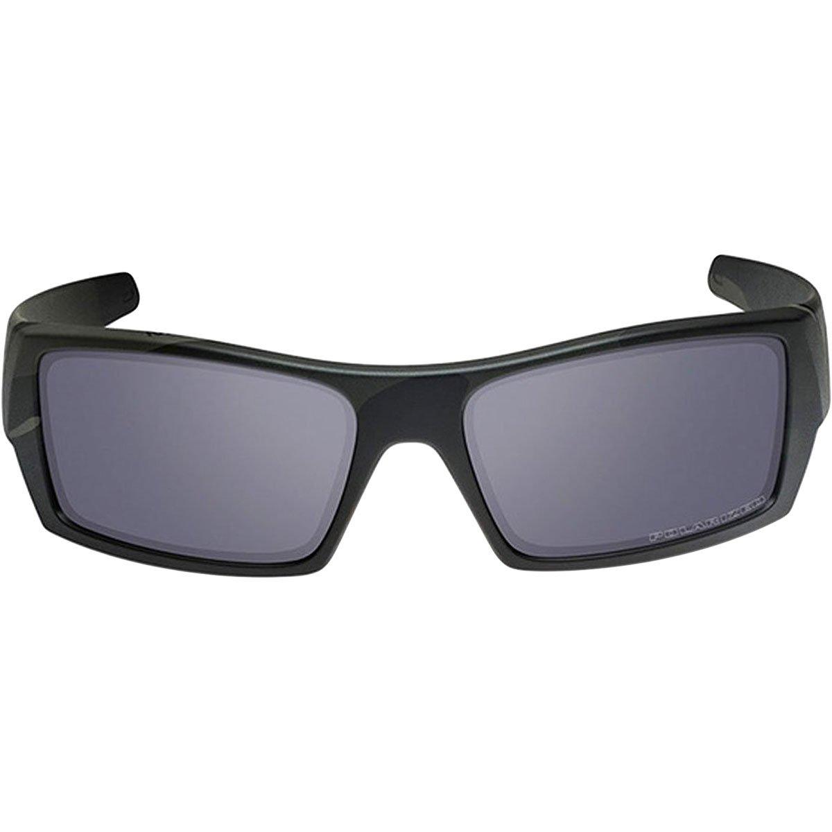 3caa7c6732a0 Amazon.com: Oakley Men's Gascan Polarized Rectangular Sunglasses, Matte  Black, 60 mm: Clothing