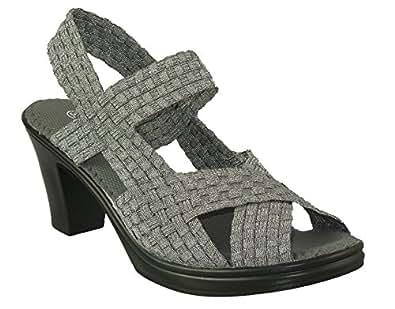 Amazon.com   Bernie Mev Women's Lizette Synthetic Sandals   Heeled