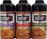 Weber All Natural Seasoning Blend 3 Flavor Variety Bundle: N'Orleans Cajun,  Roasted Garlic Herb, and Kick'N Chicken, 5-5.5 Ounce