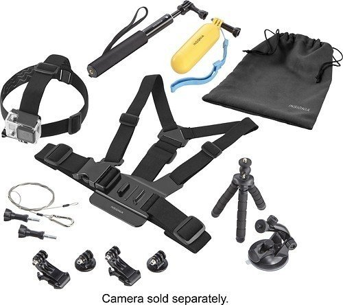 Insignia - Essential Accessory kit for GoPro Action Camera