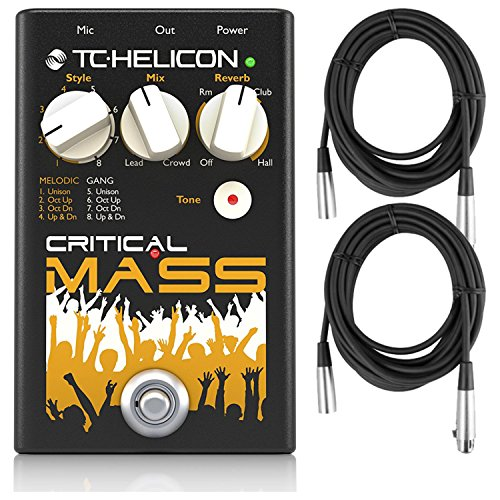 TC Helicon Critcal Mass Vocal Stompbox for Large Group Sound Effects by TC Electronic