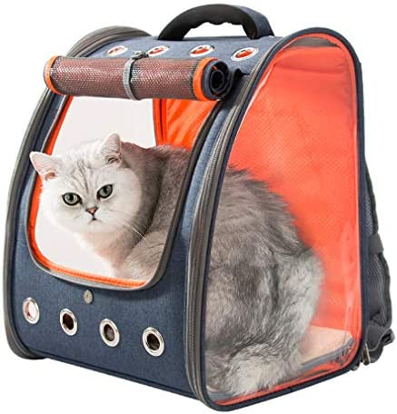 HIPIPET Pet Carrier Backpack for Cats Puppies Small Dogs and Animals Ventilated and Breathable for Travel Hiking Outdoor Use Airline Approved
