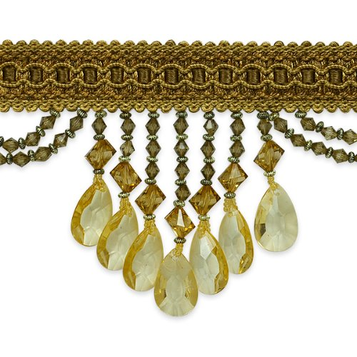 Expo International Isabella Scalloped Bead Fringe Trim, 10-Yard, Gold Multi by Expo International Inc.