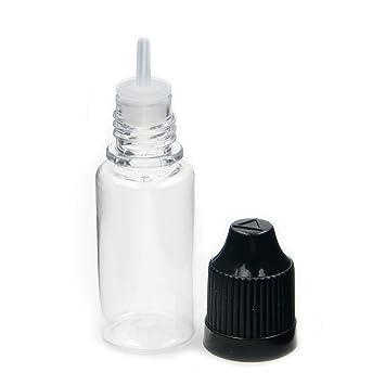 10pcs x Cuentagotas Botellas Multicolor líquido Aguja Vacío Tapa de plástico transparente de punta Live-wire-direct childproof relleno Pet, negro, ...