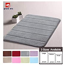 Grand Era Incredibly Soft and Absorbent Memory Foam Bath Mat, 23.6x35.4 inch, Soft, Non-slip, High Absorbency