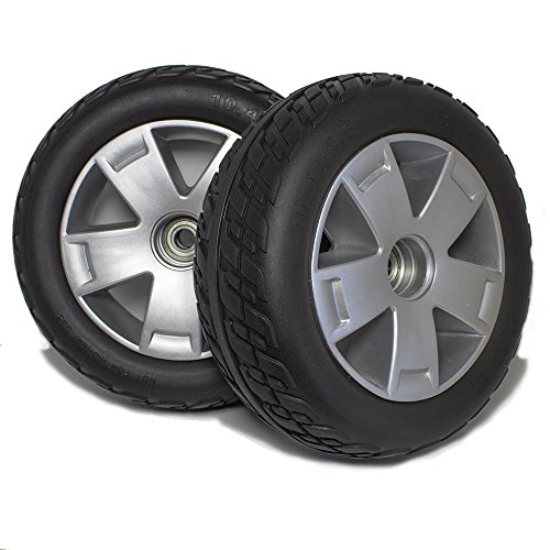 (CW844 Pride Victory 10 Four Wheel Scooter Front Wheels and Tire Replacement, Sold in Pairs)
