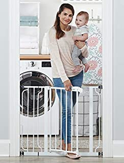 Regalo Easy Step 38.5-Inch Extra Wide Walk Thru Baby Gate, Includes 6-Inch Extension Kit, 4 Pack Pressure Mount Kit, 4 Pack Wall Cups and Mounting Kit (B001OC5UMQ) | Amazon Products