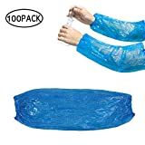 Disposable Arm Sleeves Covers, AUOKER 100pcs Waterproof PE Oversleeves Covers Protector Guard for Painting, Repair, Cleaning, Tattoo, Showers - 15