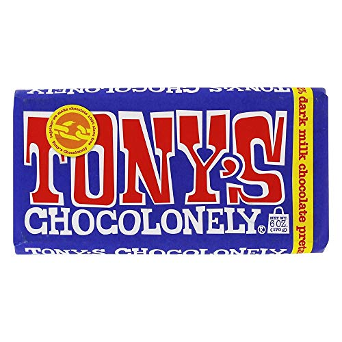 Tony's Chocolonely - 42% Dark Milk Chocolate Bar Pretzel Toffee - 6 oz. (Toffee Pretzel)