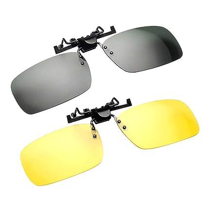 LIOOBO Gafas de Sol polarizadas Unisex Clip Drive Night ...