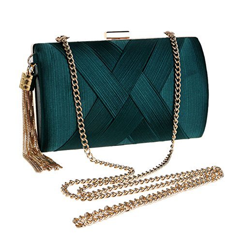 Evening 1 HKC FashionWedding 's Dinner Silk Pattern Totes Women Bag Ladies Stripe Bag 6pYYSwHq